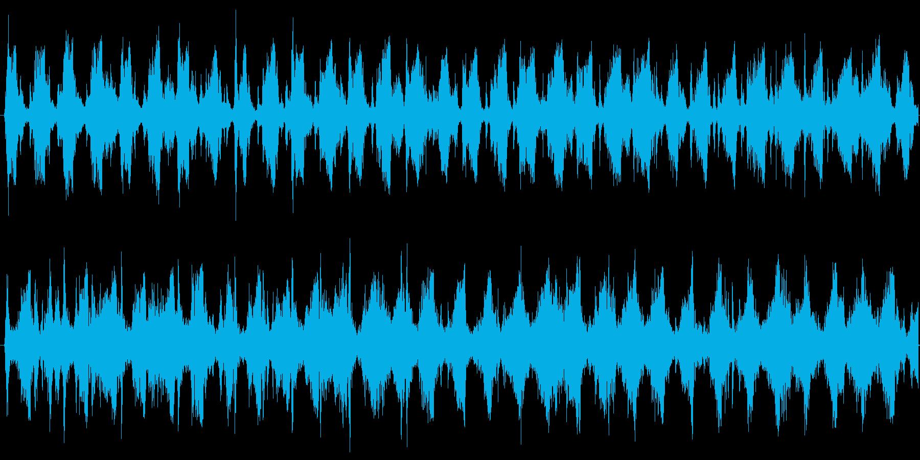 スクラッチが特徴的な怪しいテクノの再生済みの波形