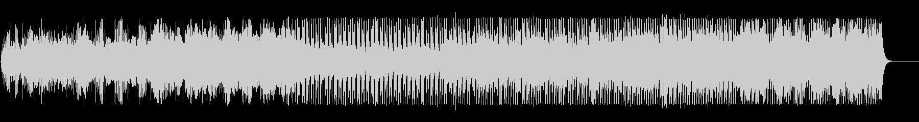機械的なアルペジオとダンスビートの未再生の波形
