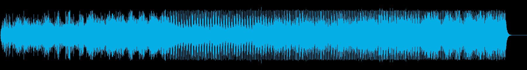 機械的なアルペジオとダンスビートの再生済みの波形