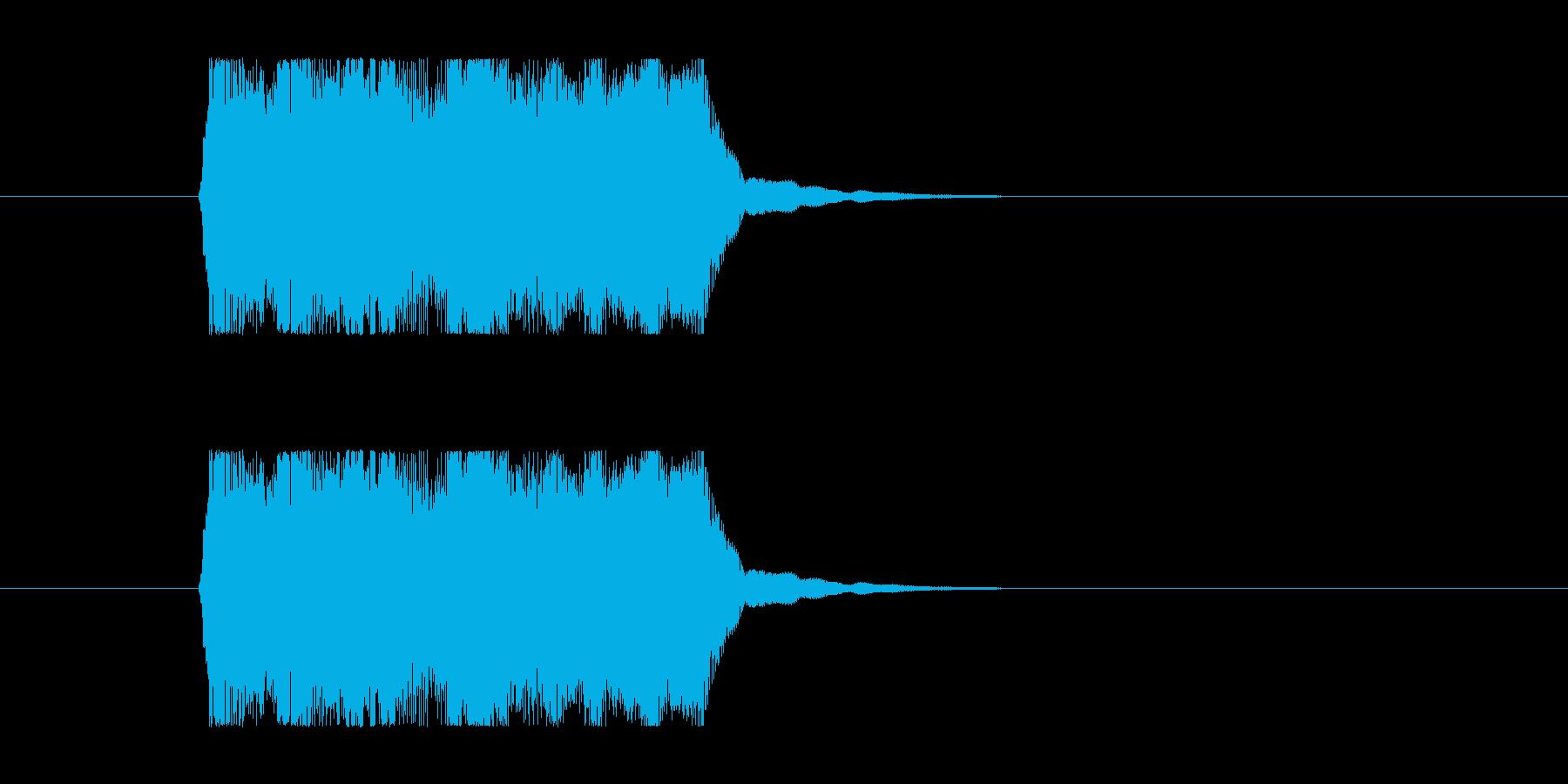 失敗02 タイプBの再生済みの波形