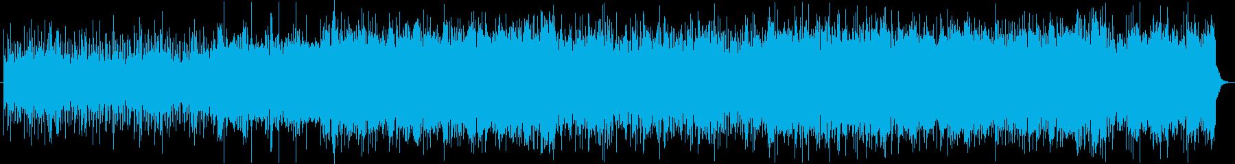 緊張感のある不穏なBGMの再生済みの波形