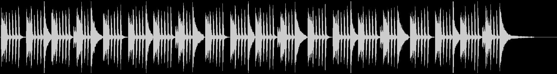 オシャレでかっこいい旋律を繰り返すピアノの未再生の波形