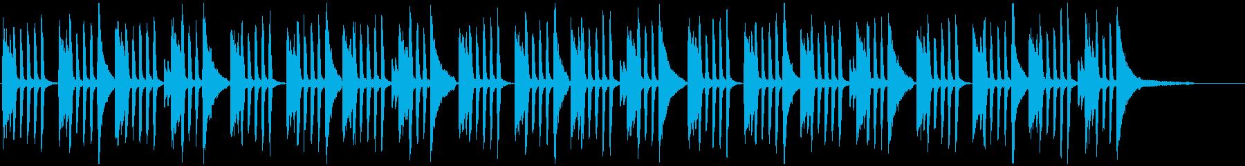 オシャレでかっこいい旋律を繰り返すピアノの再生済みの波形
