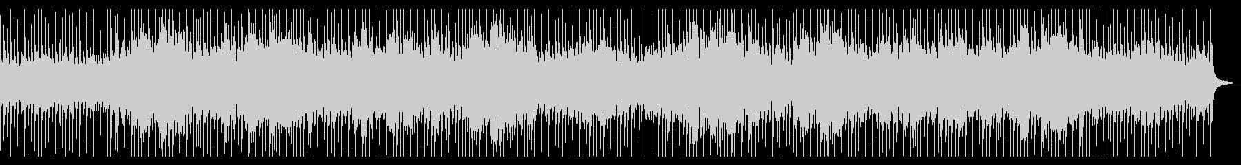 ロックテイストのポジティブピアノBGMの未再生の波形