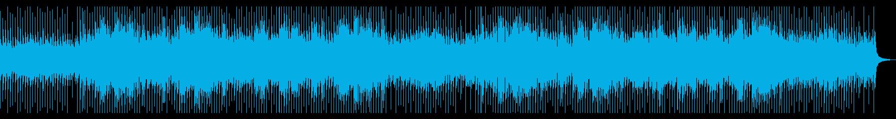ロックテイストのポジティブピアノBGMの再生済みの波形