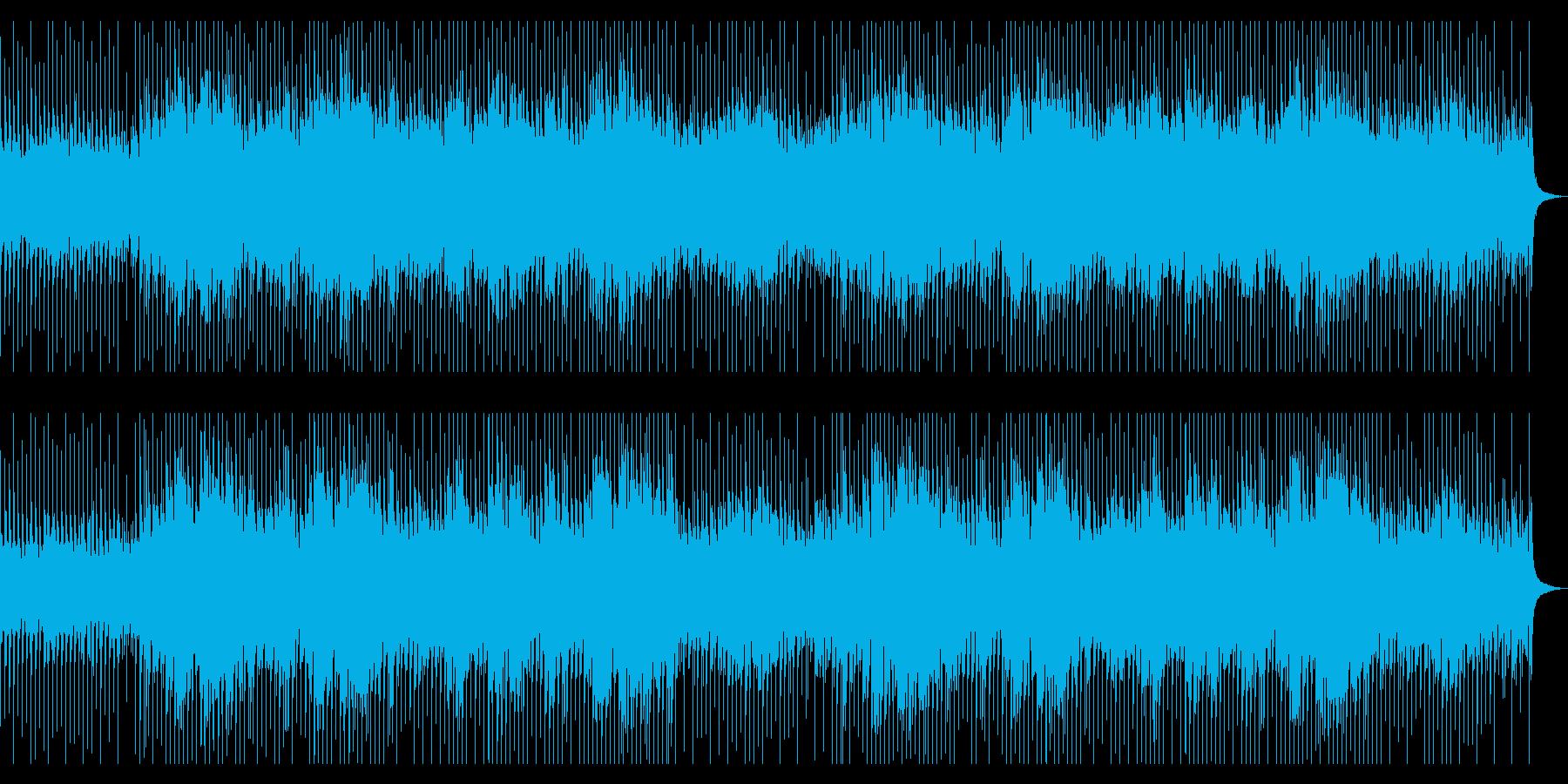 学校・会社紹介に最適なピアノロックBGMの再生済みの波形