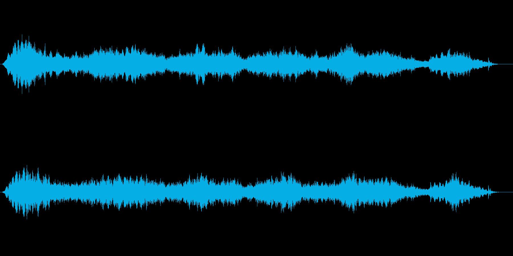 宇宙に機械音/信号が静かに流れる環境音楽の再生済みの波形