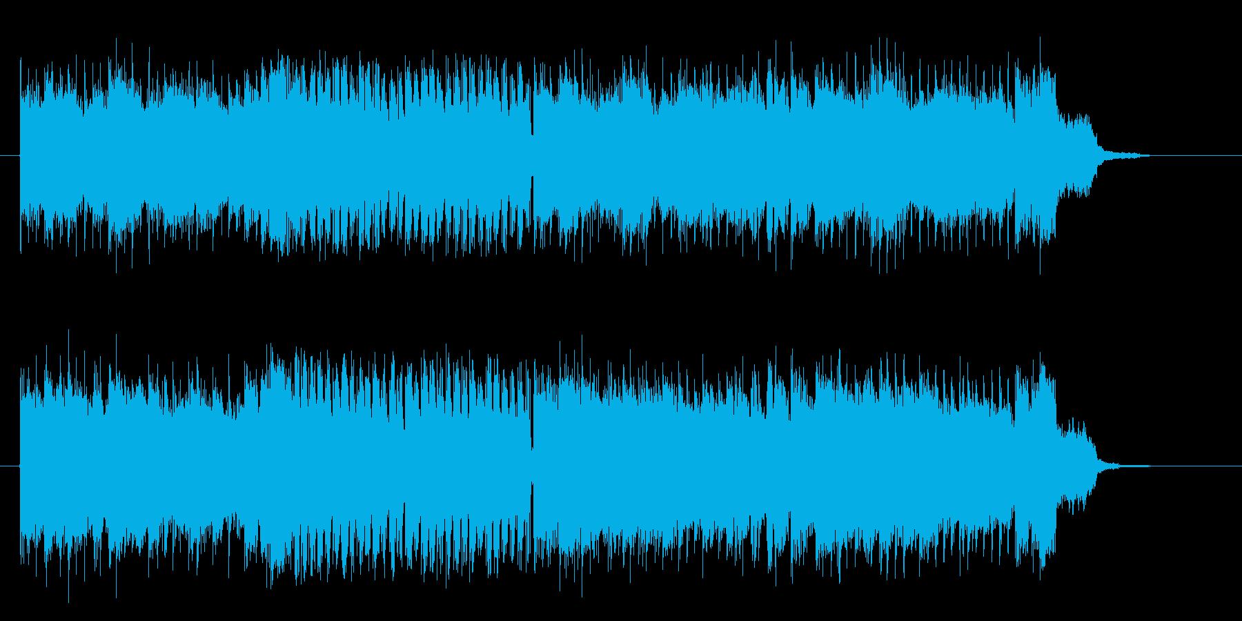 激しく勢いのあるギターによるロックの再生済みの波形