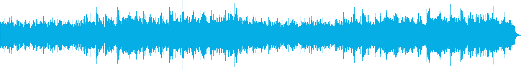 A fantastic song that expresses a quiet and beautiful snow scene's reproduced waveform