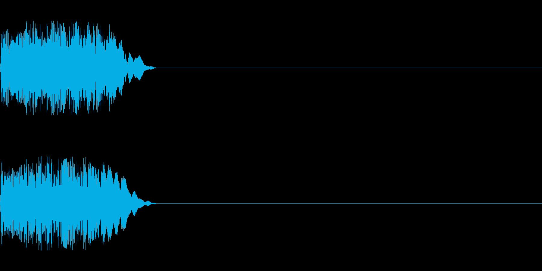 シンセサイザー レベルアップ/達成/成功の再生済みの波形