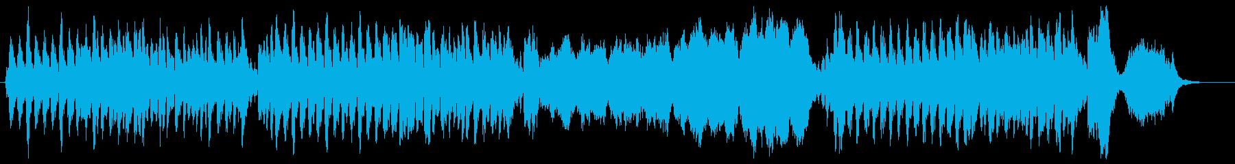 ほのぼの明るいオーケストラ曲の再生済みの波形