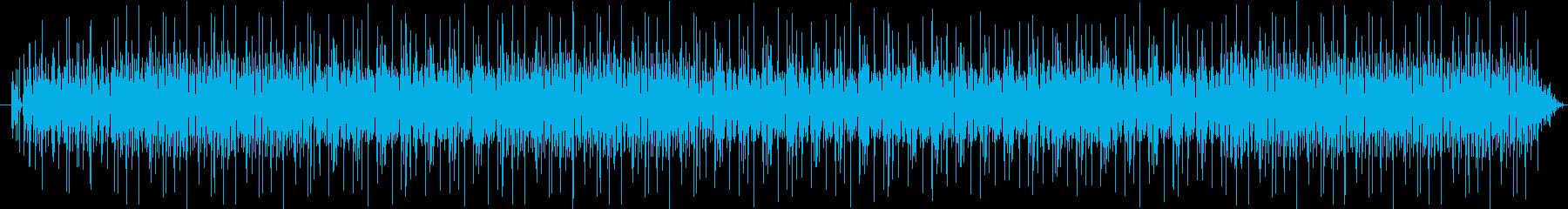 ゆったりとしたラフなレゲエの再生済みの波形