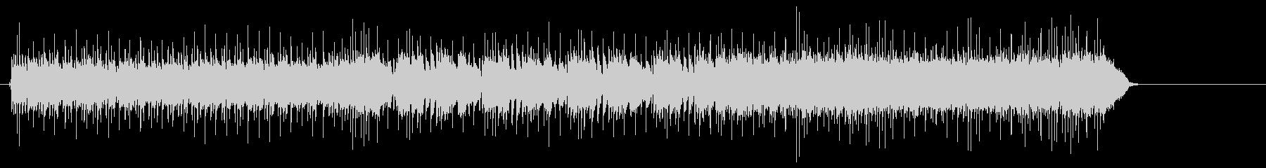 ギターの余韻が強烈な鋭角的スピードメタルの未再生の波形