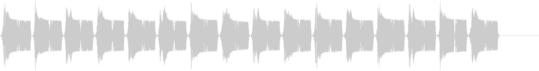 ピュピュ..。冷汗・震える音B(長め)の未再生の波形