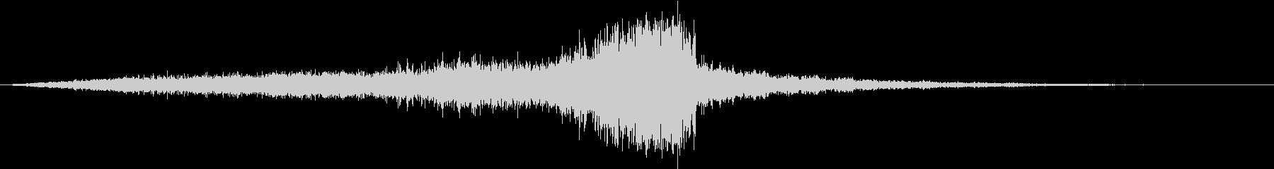 CINEMATICサウンドのライザーの未再生の波形