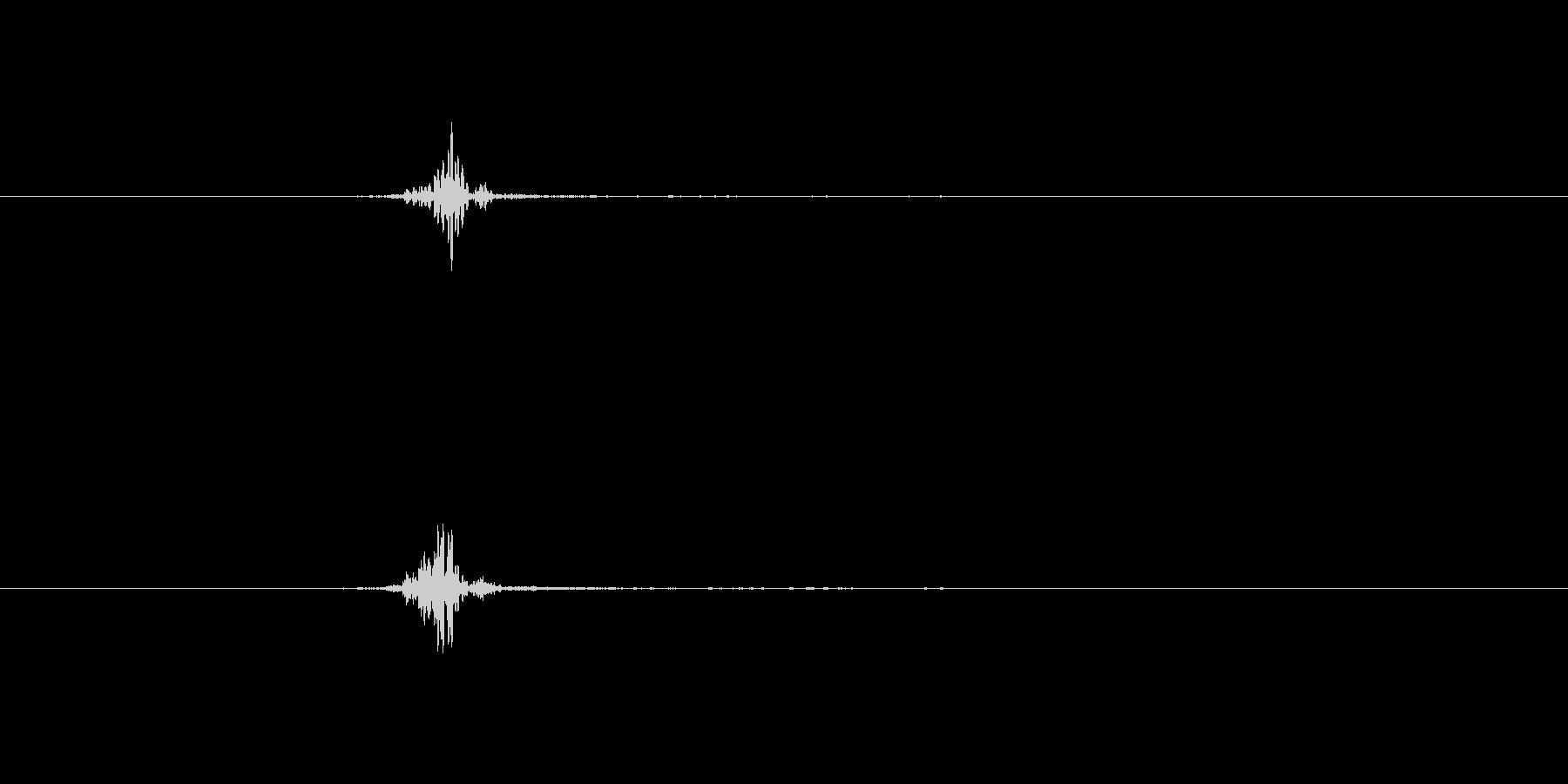 シュン ブワッ 風切り音 の未再生の波形