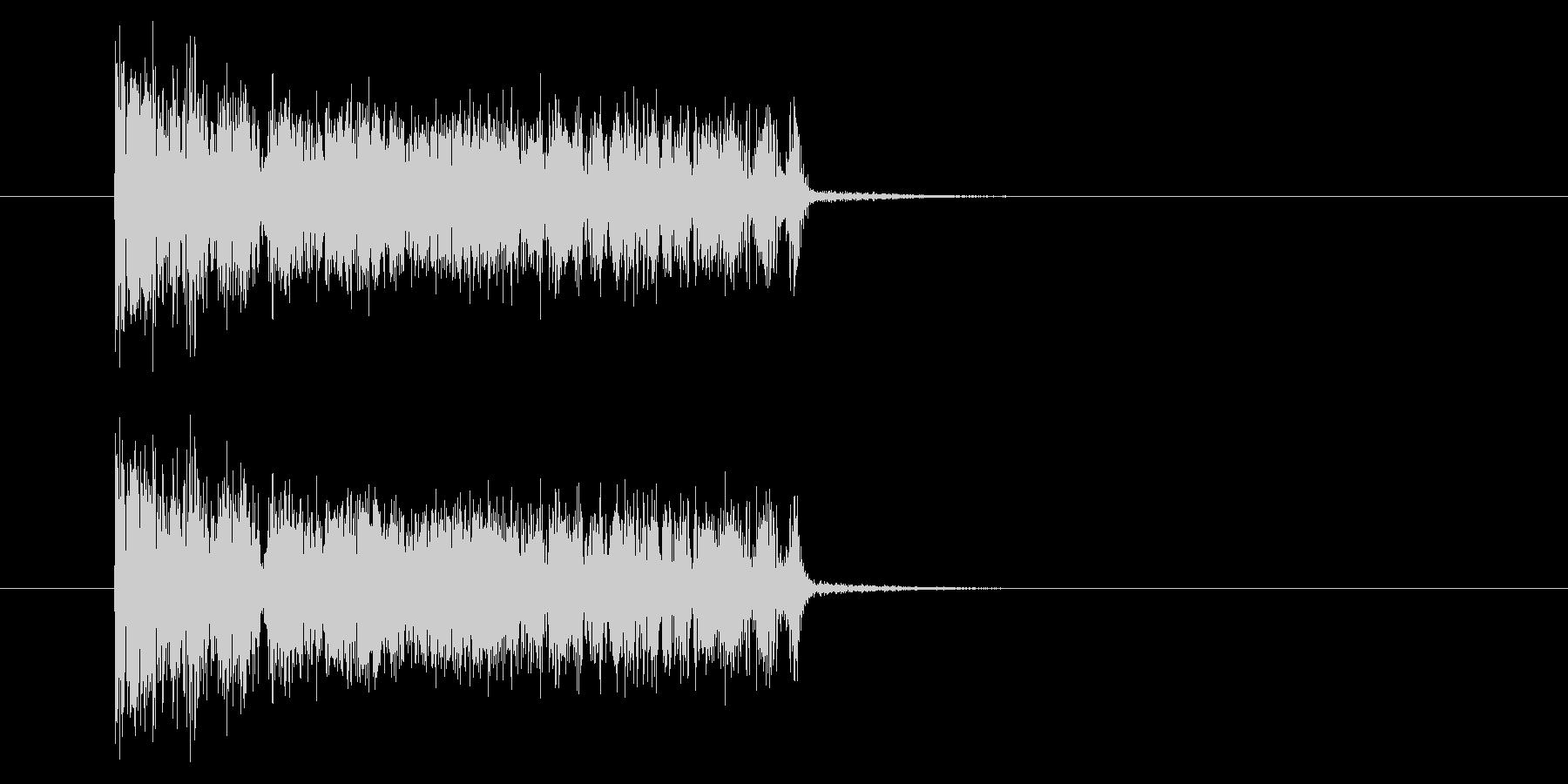 ザザッ/ノイズ/場面転換/短い/場面転換の未再生の波形