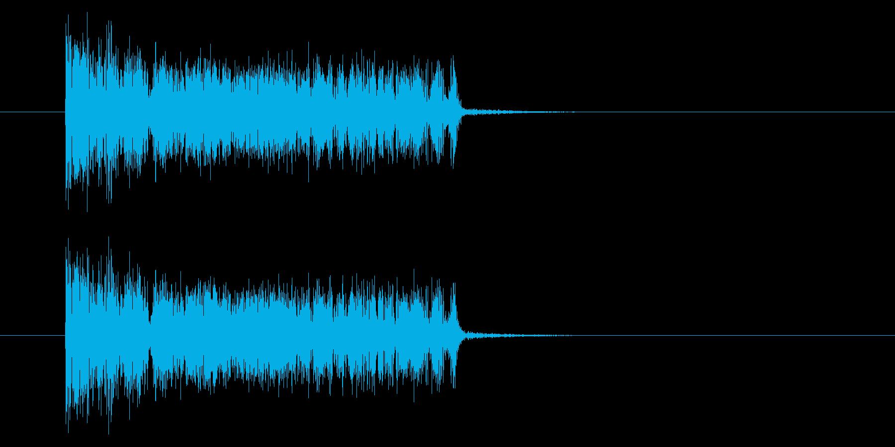 ザザッ/ノイズ/場面転換/短い/場面転換の再生済みの波形