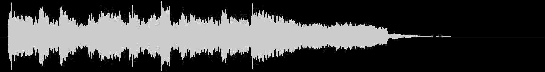 明るい、楽しいリコーダー生演奏のジングルの未再生の波形
