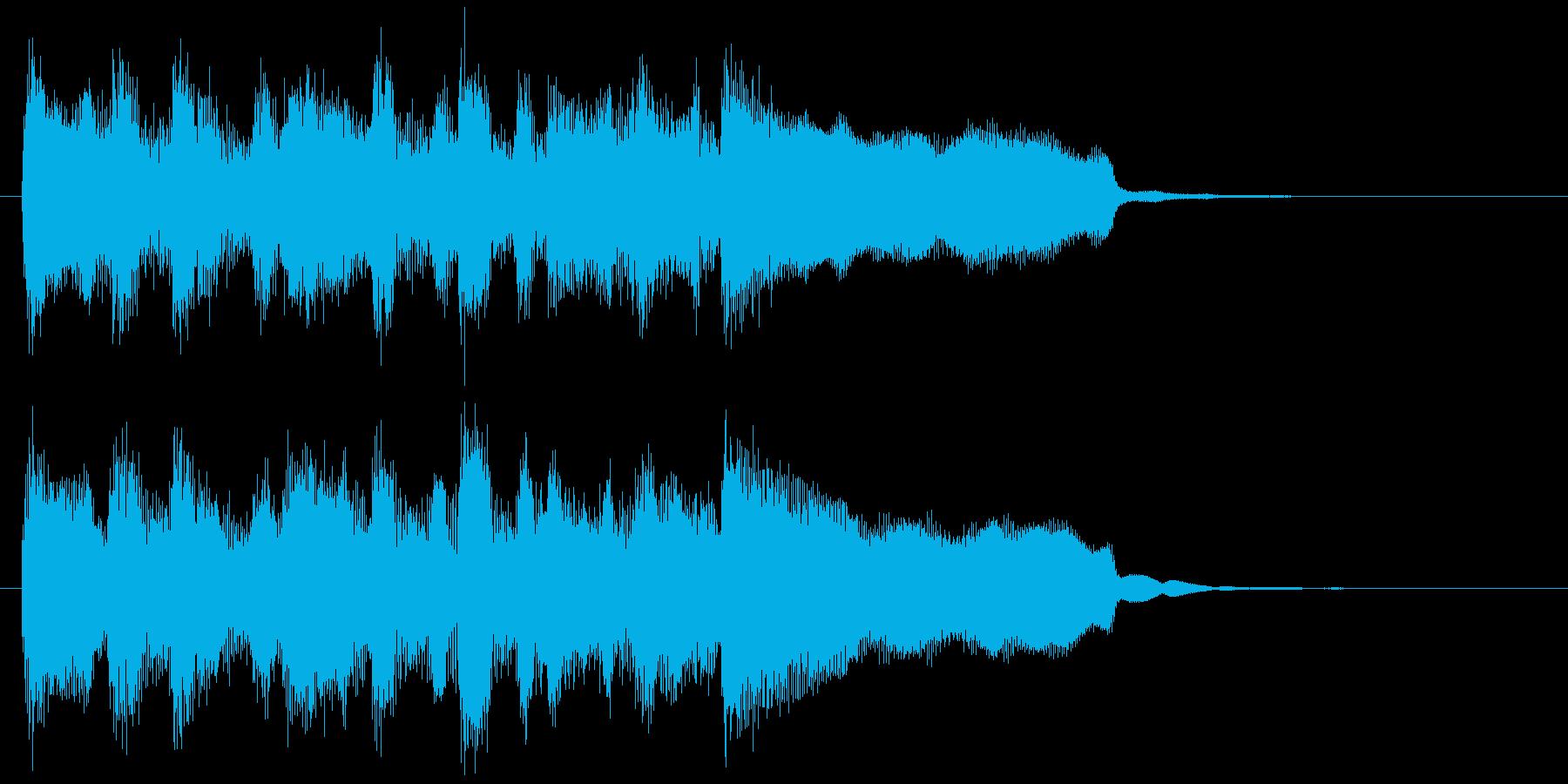 明るい、楽しいリコーダー生演奏のジングルの再生済みの波形