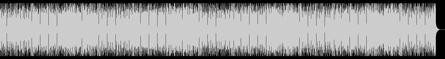 パズルゲーム風の元気なギターBGMの未再生の波形