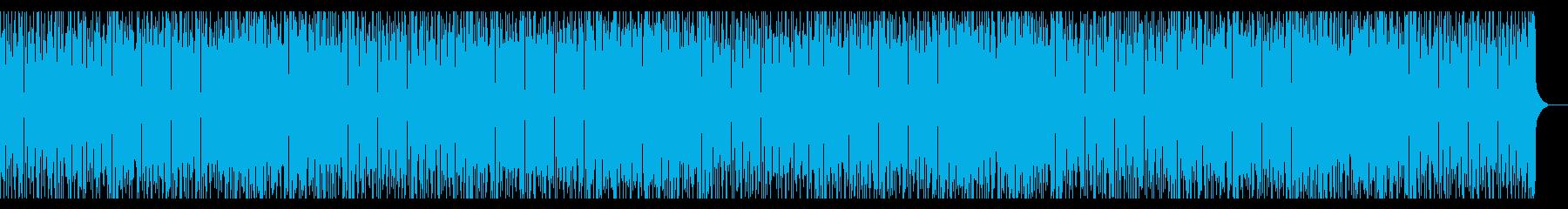 パズルゲーム風の元気なギターBGMの再生済みの波形