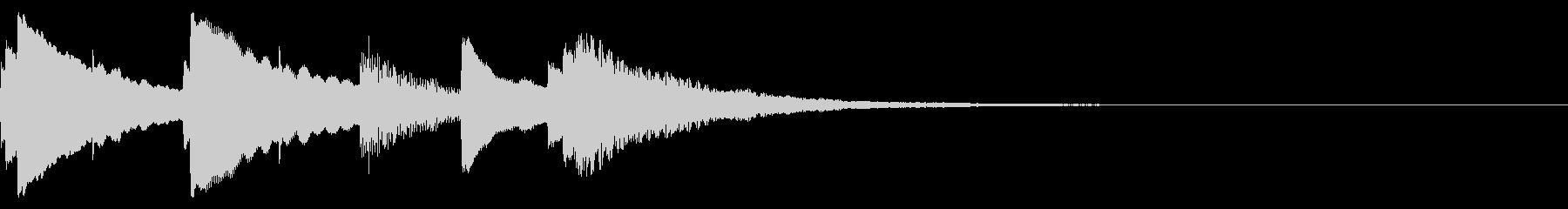 シンプル 子供 動画 コーナータイトルの未再生の波形