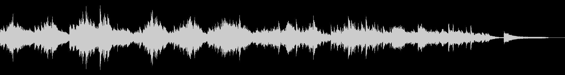切ないアンビエントピアノ90秒CM広告の未再生の波形