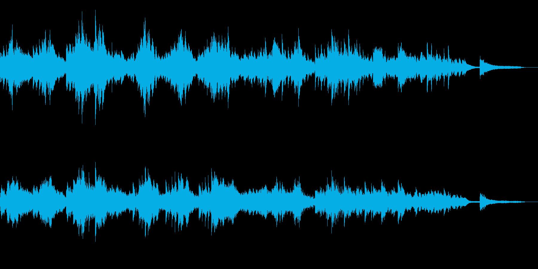 優しく切なく流れるようなピアノソロ90秒の再生済みの波形