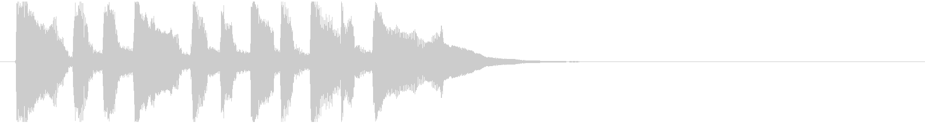 ほのぼのリコーダー場面転換・ジングルの未再生の波形