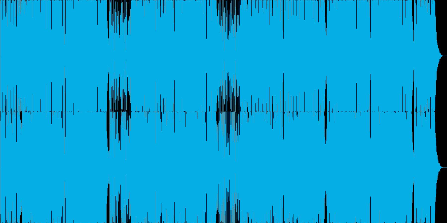 ポップでオシャレなボサノバの再生済みの波形