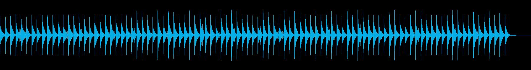 まったりしてなかなかやる気が起きない曲の再生済みの波形