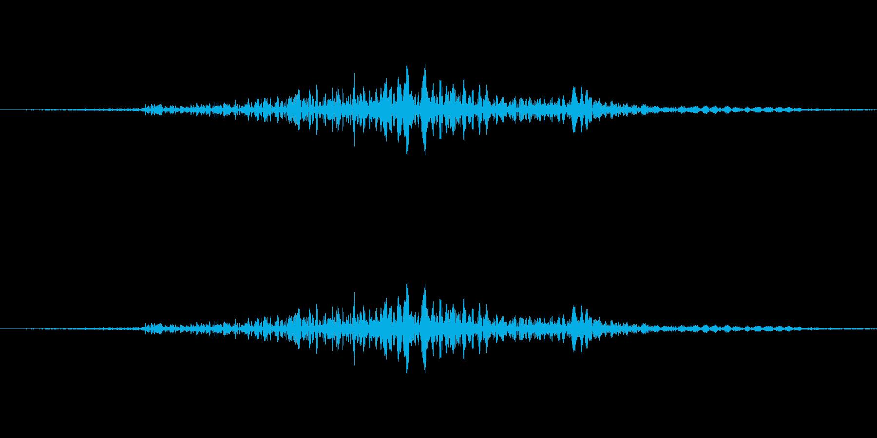 【日常音】ばさっの再生済みの波形