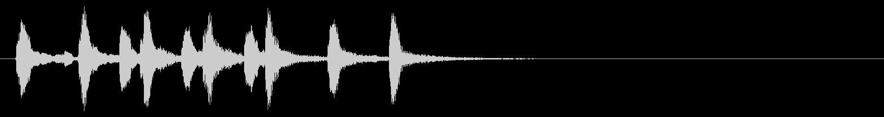よかったねちゃんちゃん木管リコーダー重奏の未再生の波形