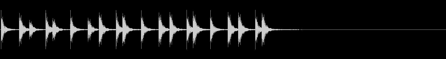 相撲の触れ太鼓「大拍子」フレーズ音2FXの未再生の波形