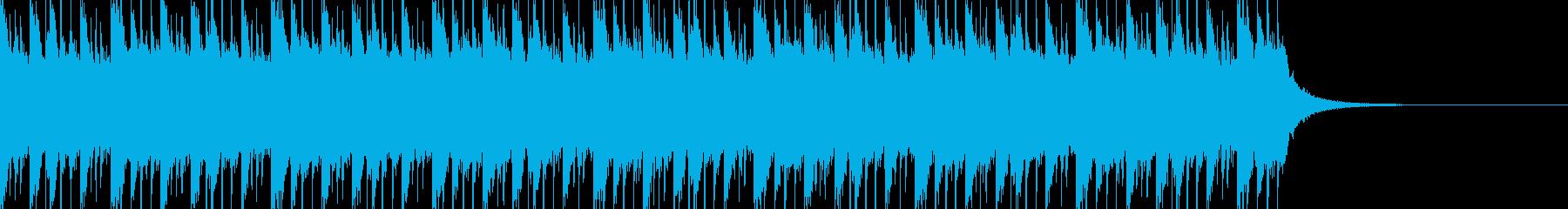 攻撃的なリズムと軽快なシンセの組み合わせの再生済みの波形