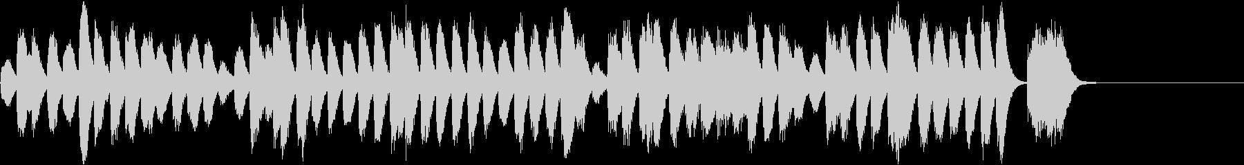 冬向けほのぼのコミカルなピアノBGMの未再生の波形