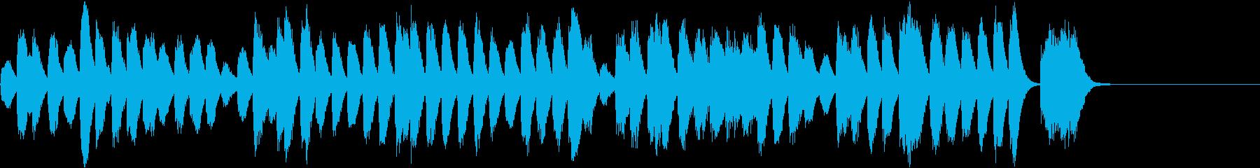 冬向けほのぼのコミカルなピアノBGMの再生済みの波形