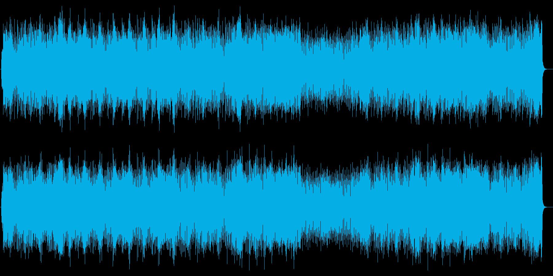 明るく元気なシンセサイザーサウンドの再生済みの波形