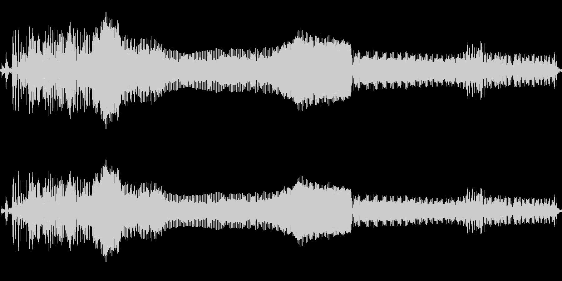 ゾンビの断末魔の未再生の波形