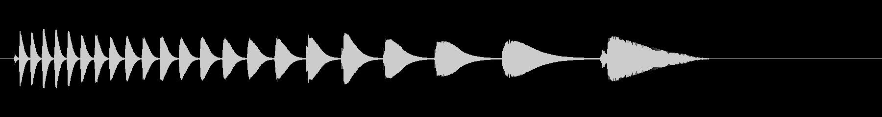 キュルキュルコトン(コケる音)の未再生の波形