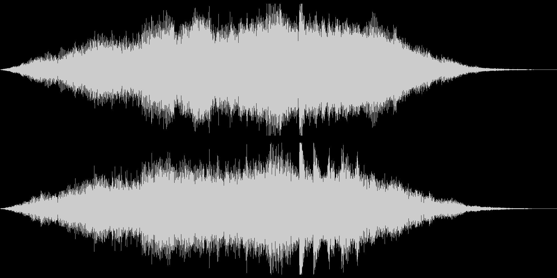 近未来的なサウンドロゴの未再生の波形