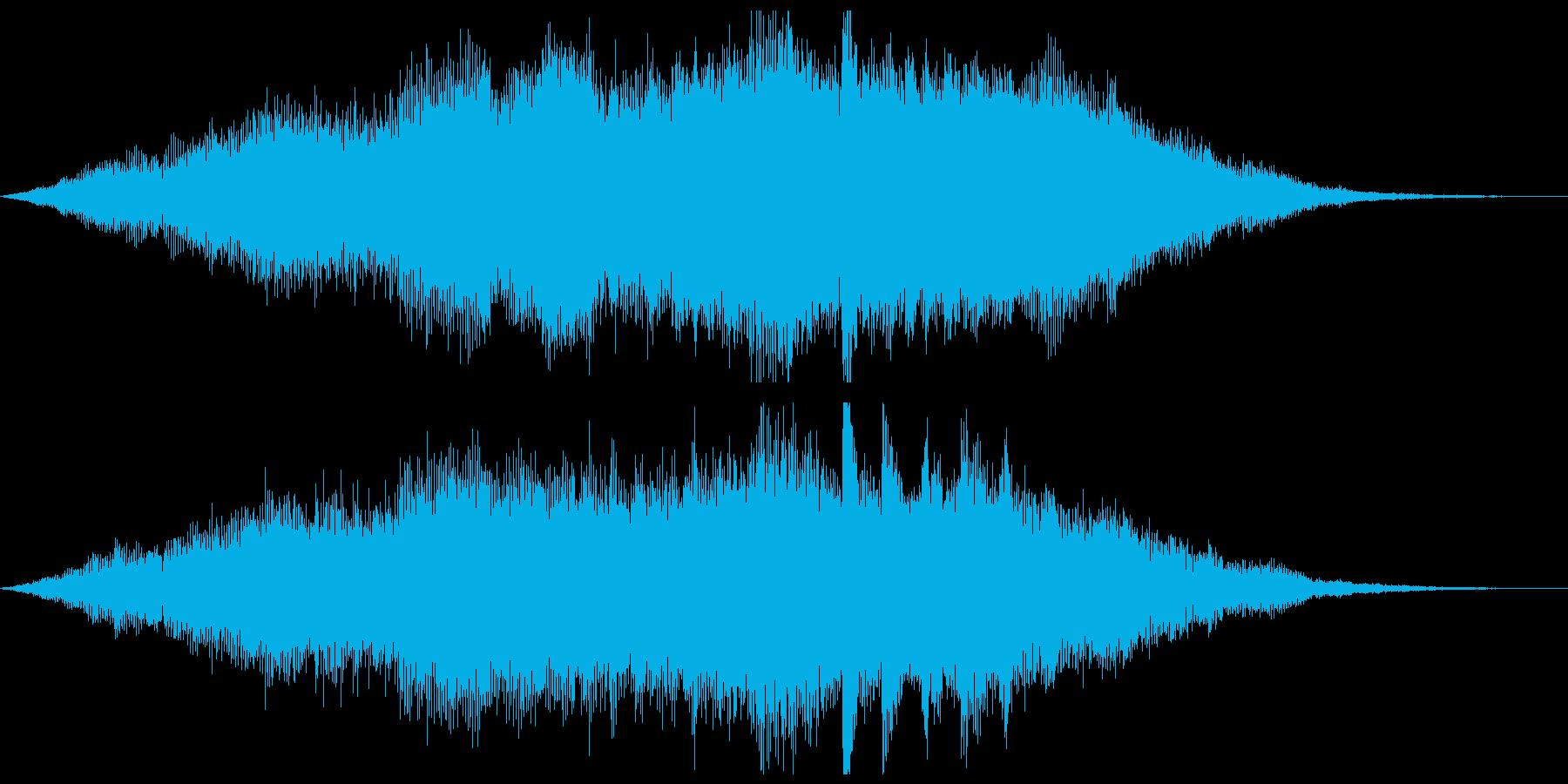 近未来的なサウンドロゴの再生済みの波形