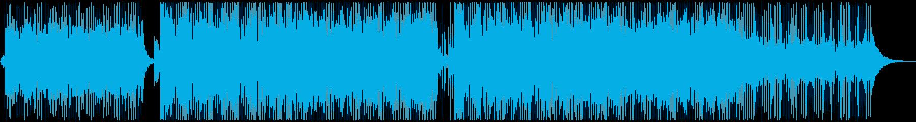 和風EDMの明るいオープニング楽曲の再生済みの波形