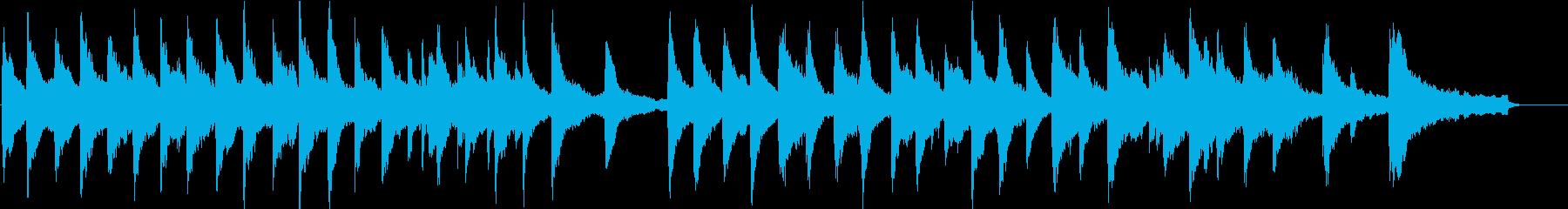 静けさを表すピアノ曲。静かな森のイメージの再生済みの波形