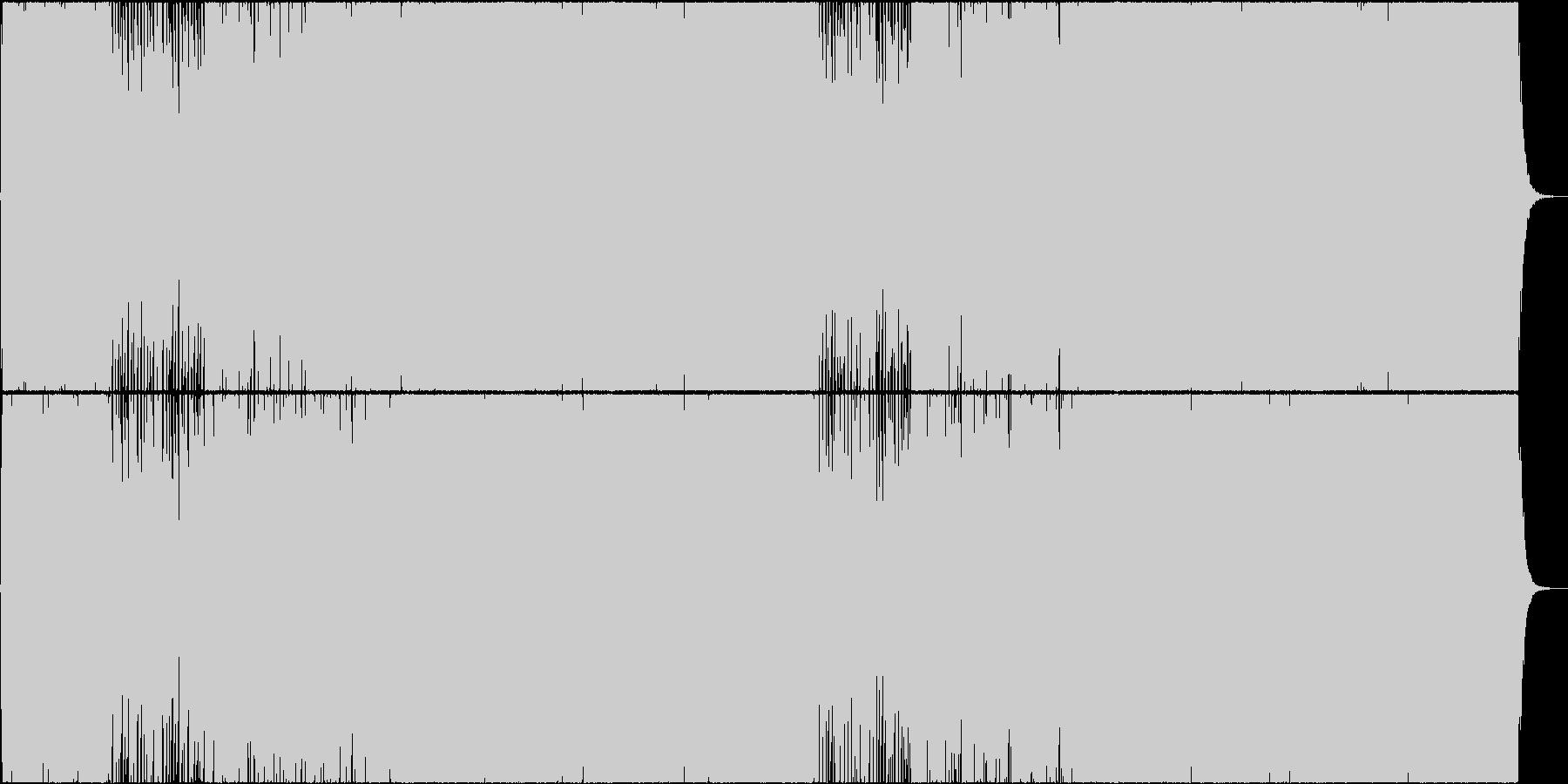 壮大なバトル曲(2回繰り返し)の未再生の波形