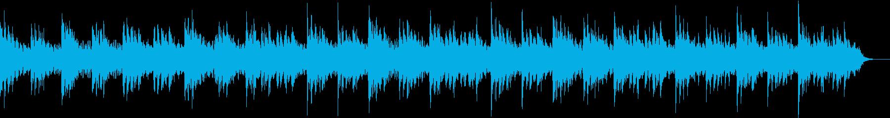 眠りやすい優しいサウンドの再生済みの波形