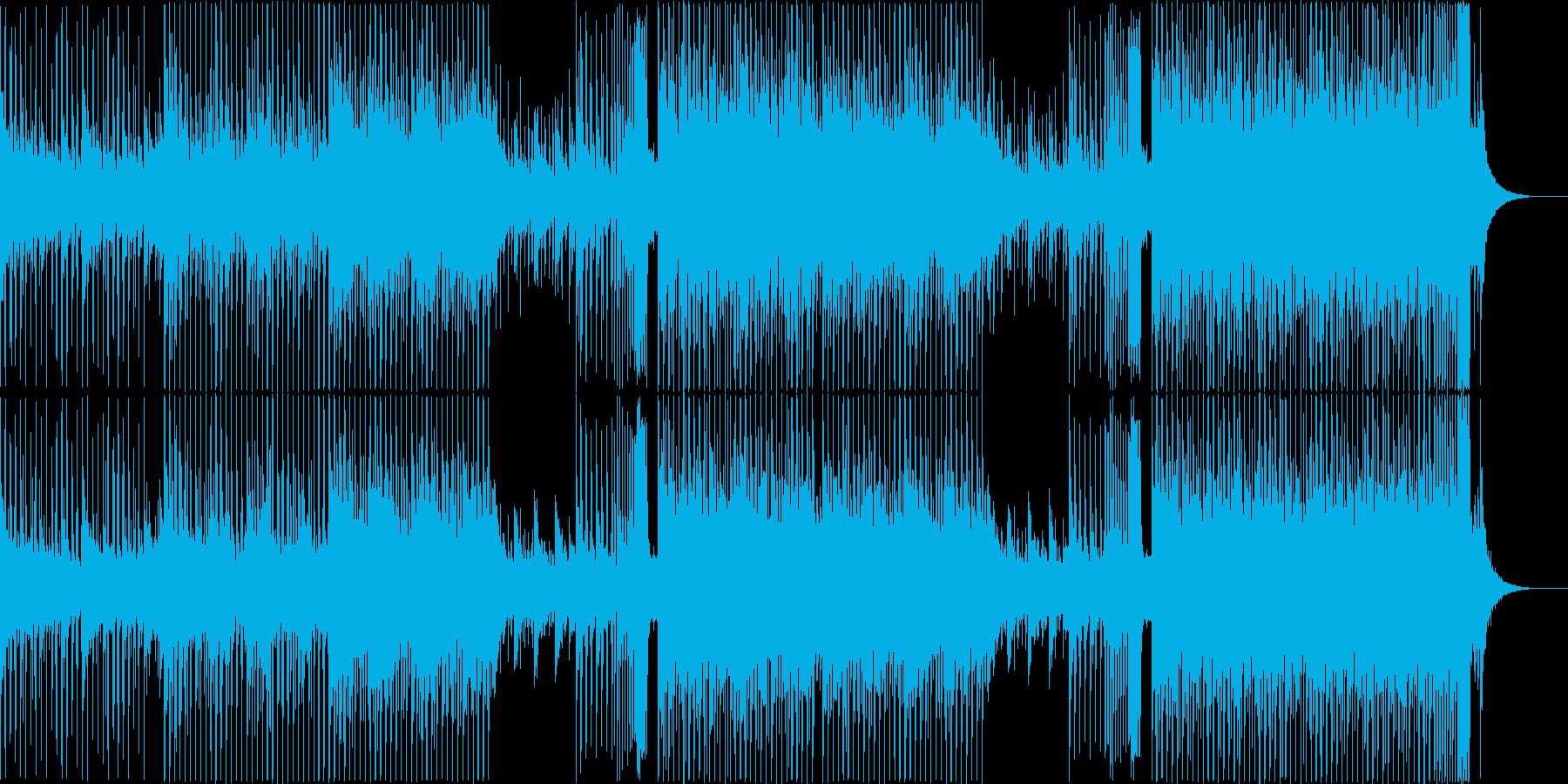 夏!ドラマティックなトロピカルハウスの再生済みの波形