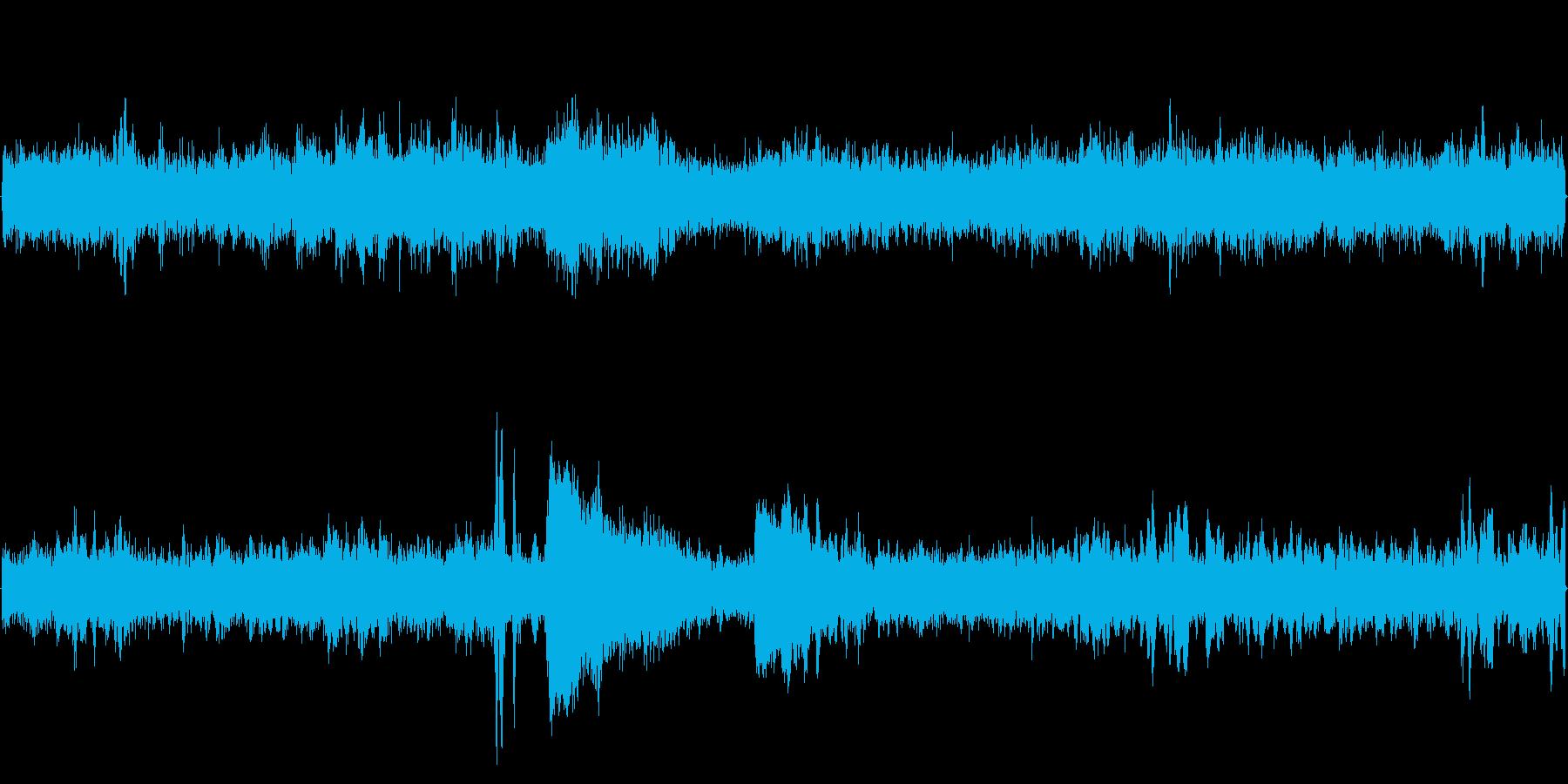 駅改札口(環境音)の再生済みの波形