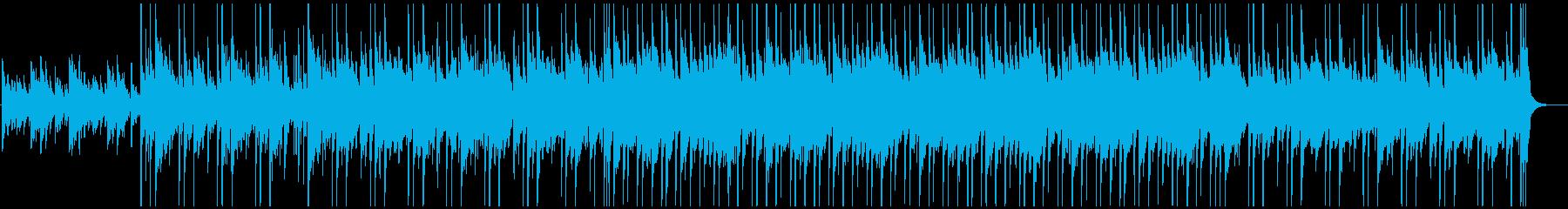 ピアノとアコギがメインのほんわかBGMの再生済みの波形